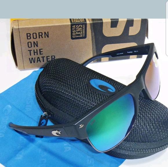 bb887fd0bc4c Costa Accessories | Del Mar Pawleys Sunglasses Black Green 580p ...